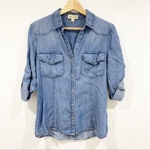 Cloth & Stone chambray button down shirt Sz medium